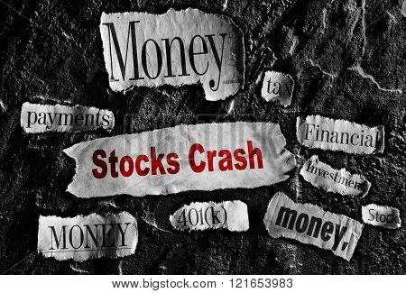 Stock crash news