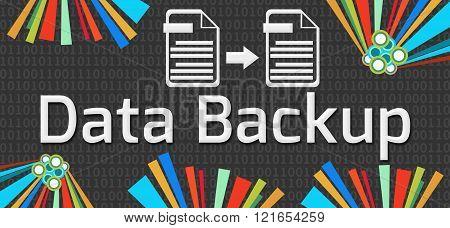 Data Backup Dark Colorful Elements