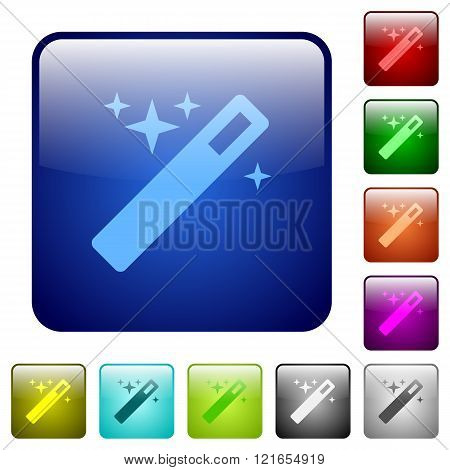Color Magic Wand Square Buttons