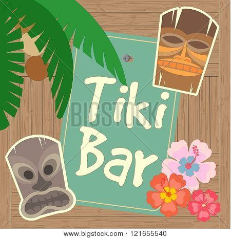 Hawaii Tiki Bar Poster