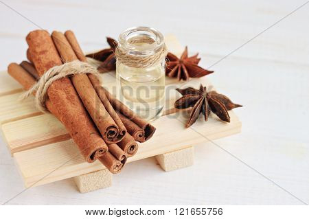 Cinnamon or anise essential oil.