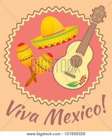 Viva Mexico Placard