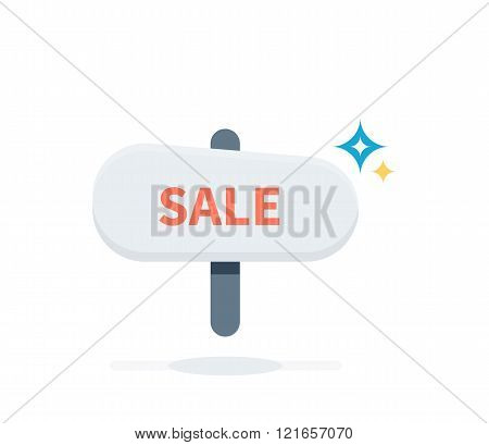 Sale Badge Signboard Design Flat
