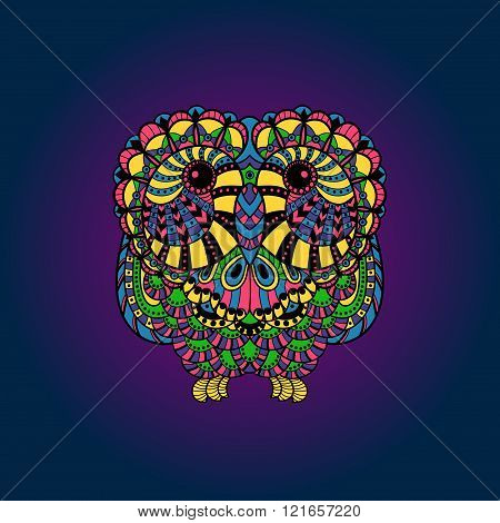 Vector Decorative liner Owl