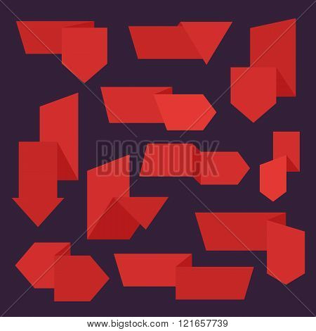 Sale tag vector isolated set