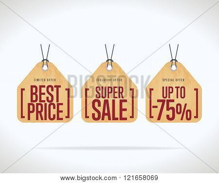 Sale tag vector isolated. Discount sticker. Sale sticker with special advertisement offer. Sale tag template. Best price tag. Super sale tag. Special offer tag. Sale sticker. Special offer sale tag. Tag. Three different sale tag. Discount tag template.