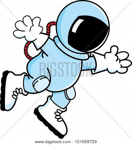 Cartoon astronaut.