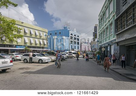 Shoppers In Lower Broad Street, Bridgetown, Barbados