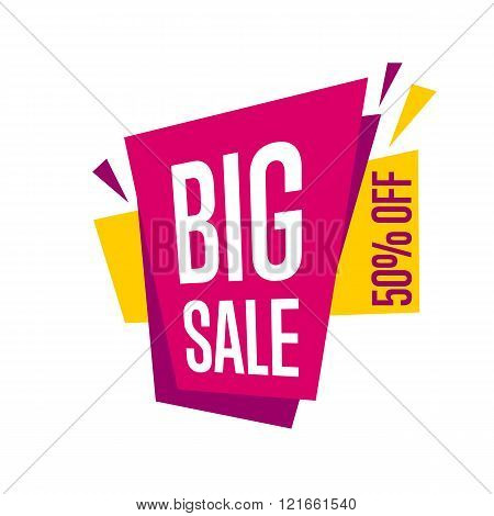 Sale vector banner. Promo offer. Sale sticker. Discount sticker. Isolated sticker. Special offer sale sticker in flat style. Discount tag. Special offer. Sale sign. Web sticker. Sale label. Advertisement sticker. Sale sticker template. Design of ad offer.