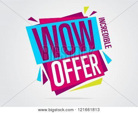 Sale vector banner. Promo offer. Sale sticker. Discount sticker. Isolated sticker. Special offer sale sticker in flat style. Discount tag. Special offer. Sale sign. Web sticker. Sale label. Advertisement sticker. Sale sticker template. Design of ad offer.