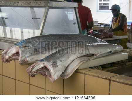Prepared Merlin Fish In A Fish Market