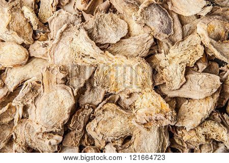 Dried ginger for mulled wine and hot tea horizontal