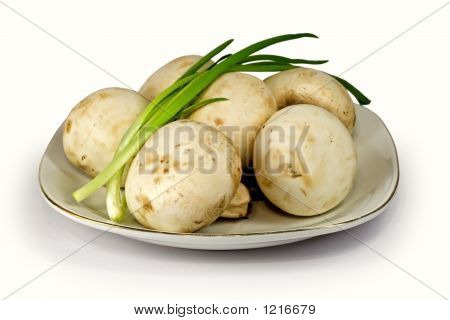 Champignons With A Green Onions