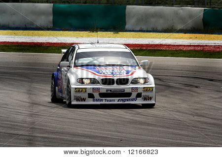 racing car on track