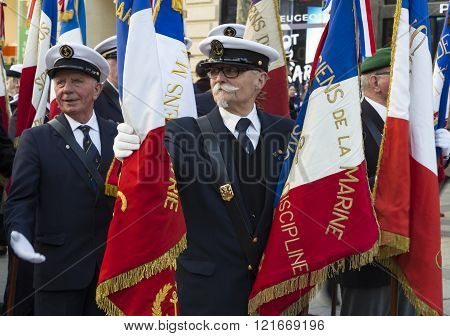 The French Navy Veterans, Paris, France.
