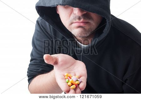 Stranger Giving Pills