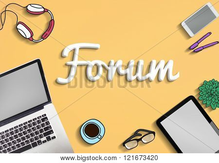 Forum Information Assembly Conference Seminar Concept