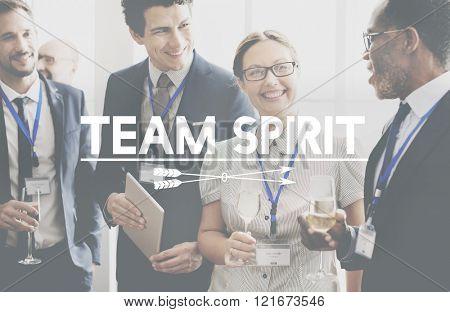 Team Spirit Power Spirit Strong Togetherness Concept