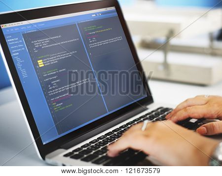 Software Programming Web Development Concept