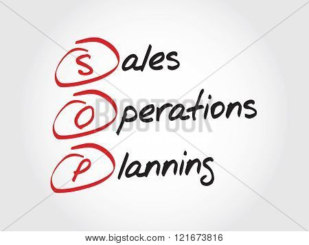 Sop - Sales And Operations Planning