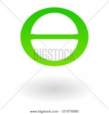 Earth day symbol, theta