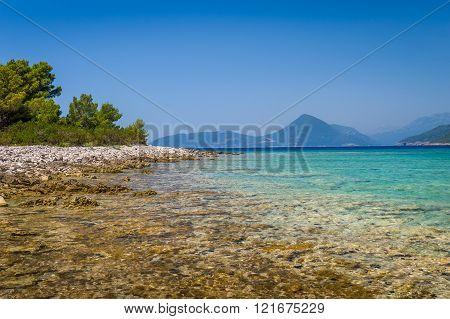 Beautiful sea shore of Montenegro