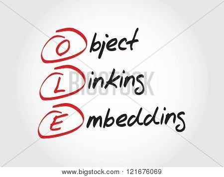 Ole Object Linking And Embedding
