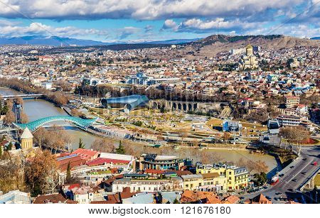 View of Tbilisi from Narikala Fortress