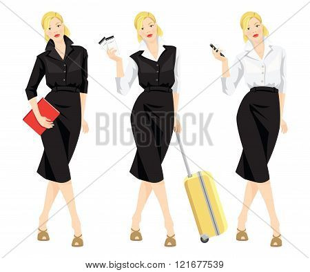 Vector illustration of business woman