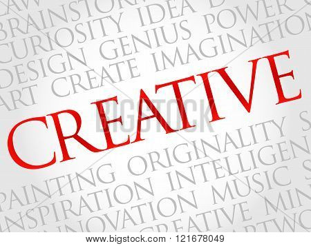 Creative word cloud business concept, presentation background