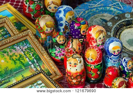 Sale Of Souvenirs On Shrovetide Festivities