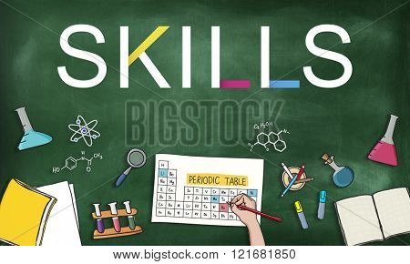 Skills Job Profession Expertness Aptitude Concept