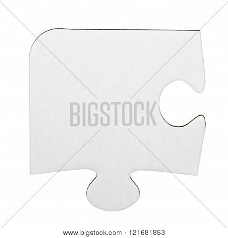 White Cardboard Jigsaw Puzzle