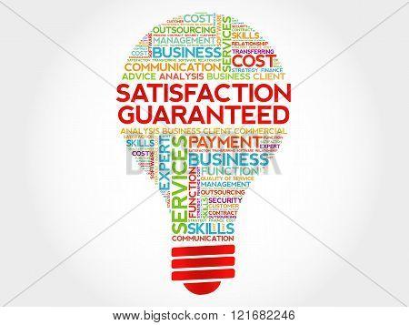 Satisfaction Guaranteed Bulb Word Cloud