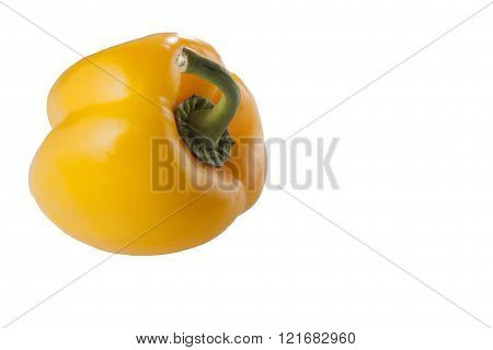 yellow pepper isolated on white background