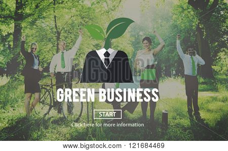 Green Business Ecology Environment Concept