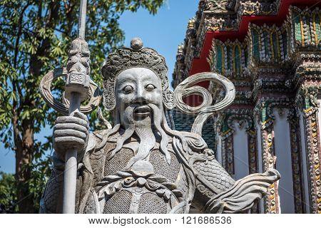 Guardian Statue At Wat Arun
