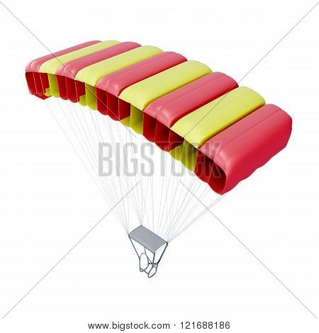 Parachute isolated on white background. 3d render image