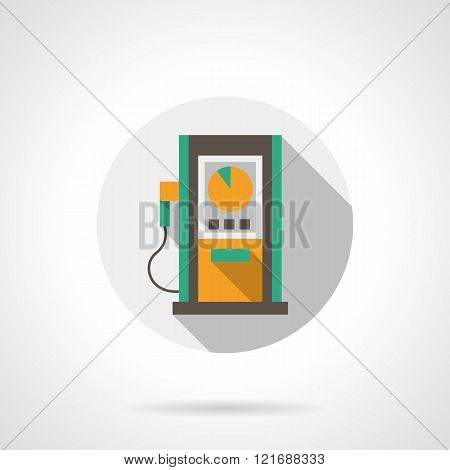 Round flat color refilling station vector icon