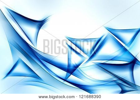 Blue waves art. Blurred effect background. Abstract creative graphic design.