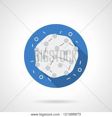 Medical microbiology blue round flat vector icon