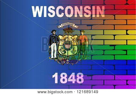 Rainbow Wall Wisconsin