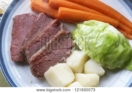 Corned Beef And Cabbage For Dinner