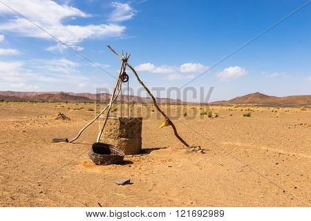water well in Sahara desert