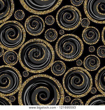 Classic seamless gold glitter pattern.