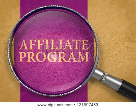Affiliate Program Concept through Magnifier.