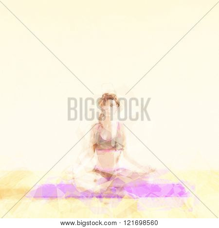 Meditation Concept Illustration with Soothing Background Art