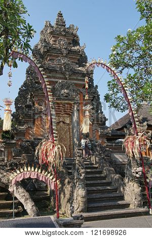 Pura Taman Saraswati, sights of Ubud, Bali, Indonesia