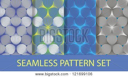 seamless ellipse pattern set