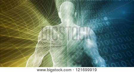 Digital Lifestyle and Futuristic Man Using Technology
